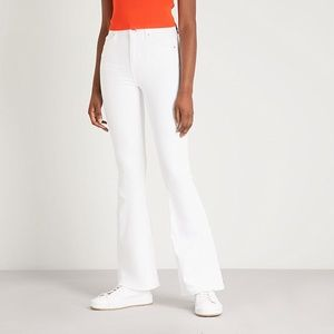 TOPSHOP Jamie Flare White Jeans